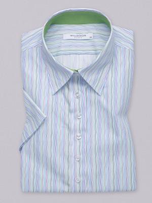 Bluzka z krótkim rękawem w kolorowe prążki