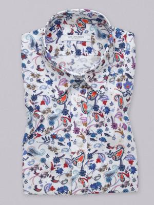 Bluzka z krótkim rękawem w kolorowe wzory