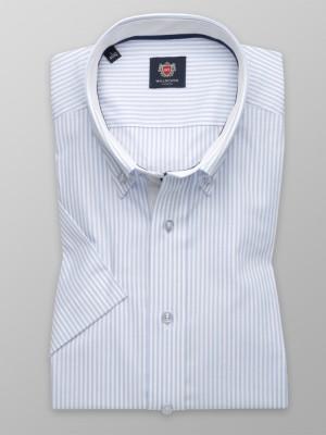 Taliowana koszula w białe i błękitne paski