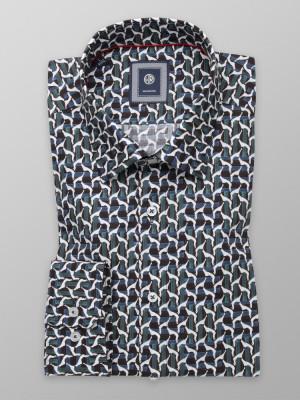 Taliowana koszula w stylowy wzór