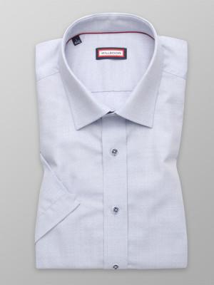 Popielata taliowana koszula