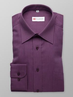 Klasyczna fioletowa koszula z kołnierzykiem KENT