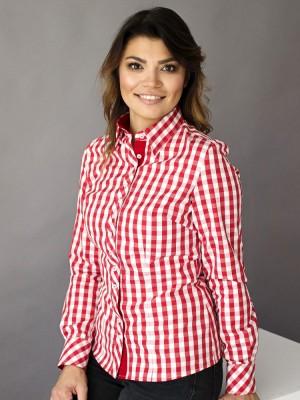 Bluzka w biało-czerwoną kratę