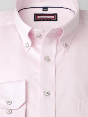 Jasnoróżowa klasyczna koszula stretch