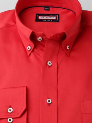 Czerwona klasyczna koszula stretch