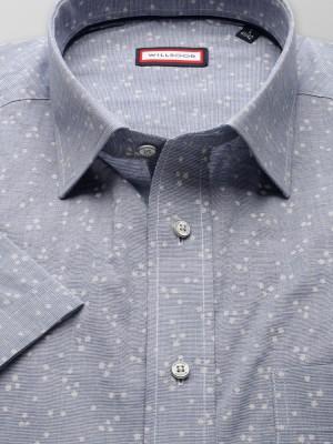 Klasyczna popielata koszula w gwiazdki