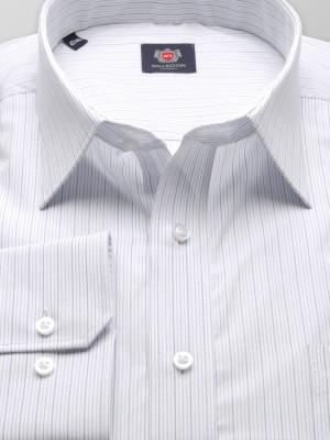 Biała klasyczna koszula w prążki