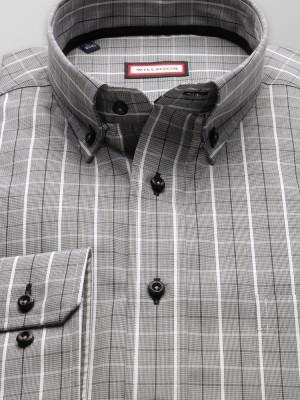 Klasyczna koszula w drobną pepitkę i kratę