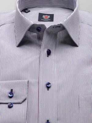 Biała klasyczma koszula w paski
