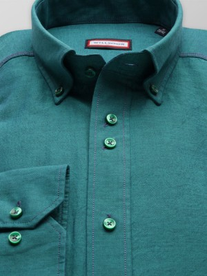 Zielona taliowana koszula
