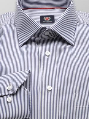 Biała klasyczna koszula w paski