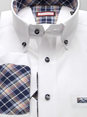 Biała klasyczna koszula z nałokietnikami