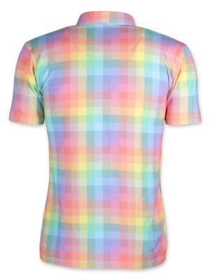 Koszulka polo w kolorową kratkę