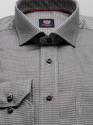 Klasyczna koszula w geometryczny wzór