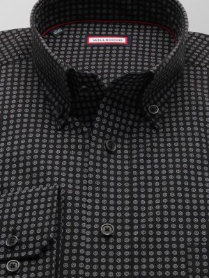 Czarna klasyczna koszula w kółka