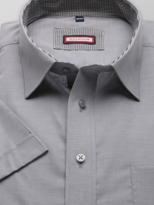Jasnoszara klasyczna koszula