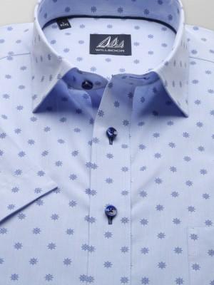 Błękitna klasyczna koszula w koła sterowe