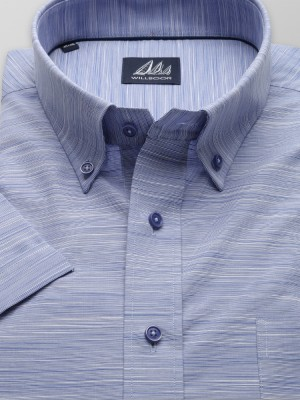 Klasyczna niebieska koszula w drobne prążki