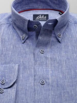 Klasyczna niebieska koszula z lnu