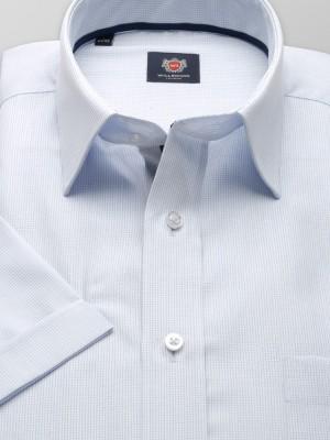 Biała klasyczna koszula w drobną kratkę