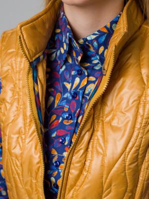 Żółta kamizelka pikowana