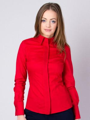 Czerwona bluzka z plisowaniem