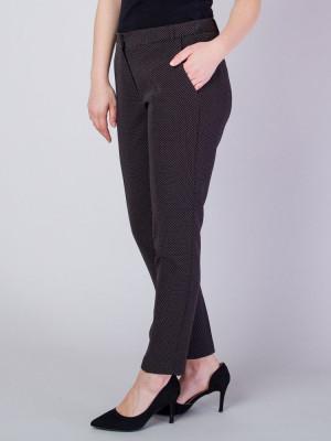 Czarne spodnie garniturowe w kropki