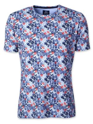 Niebieski t-shirt w liście