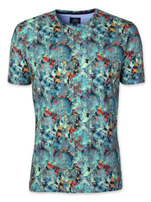 Niebiesko-zielony t-shirt