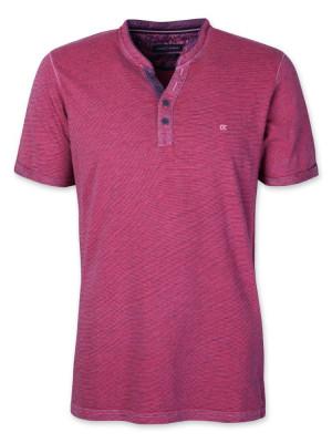 Purpurowy t-shirt rozpinany CASA MODA