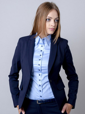 Ciemnogranatowy garnitur damski