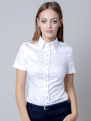 Biała bluzka z krótkim rękawem