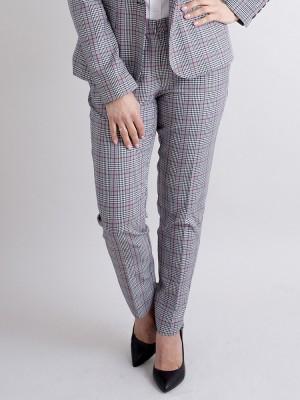 Spodnie garniturowe w kratę Księcia Walii