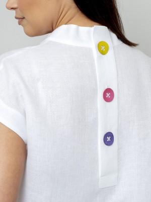 Biała bluzka lniana