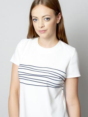 Biała bluzka oversize w paski
