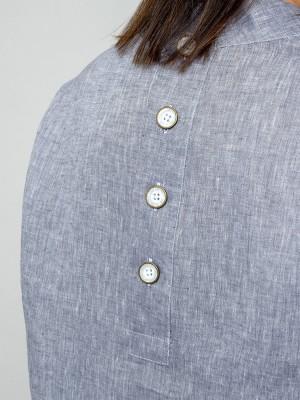 Szara bluzka lniana