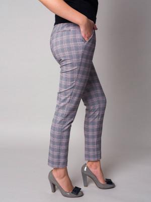 Spodnie garniturowe w kratę