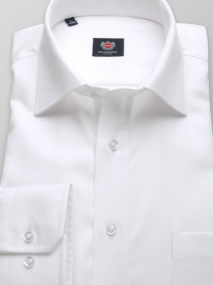 Biała klasyczna koszula z włoskim kołnierzykiem