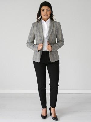 Czarne spodnie garniturowe