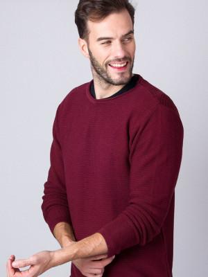 Cienki bordowy sweter
