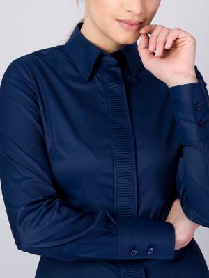 Granatowa bluzka z plisowaniem