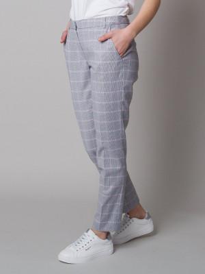 Spodnie garniturowe w kratkę