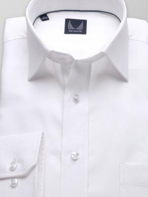 Biała klasyczna koszula w mikrowzór