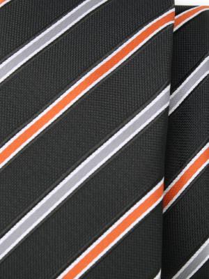 Czarny krawat w paski