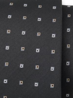 Czarny krawat w kwadraty
