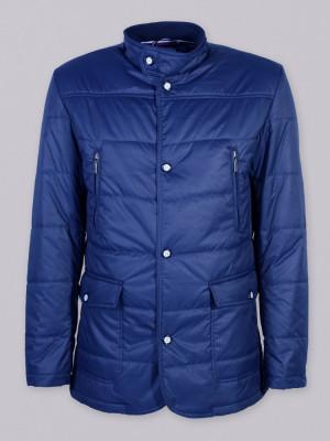 Ciemnogranatowa kurtka pikowana (roz. do 5XL)
