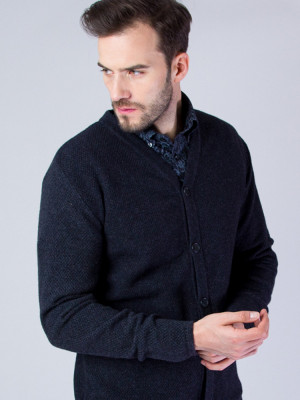 Antracytowy sweter rozpinany
