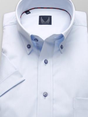 Jasnobłękitna klasyczna koszula o gładkiej fakturze