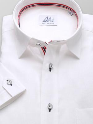 Biała klasyczna koszula z dodatkiem lnu