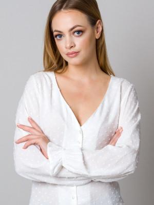 Biała bluzka w serek